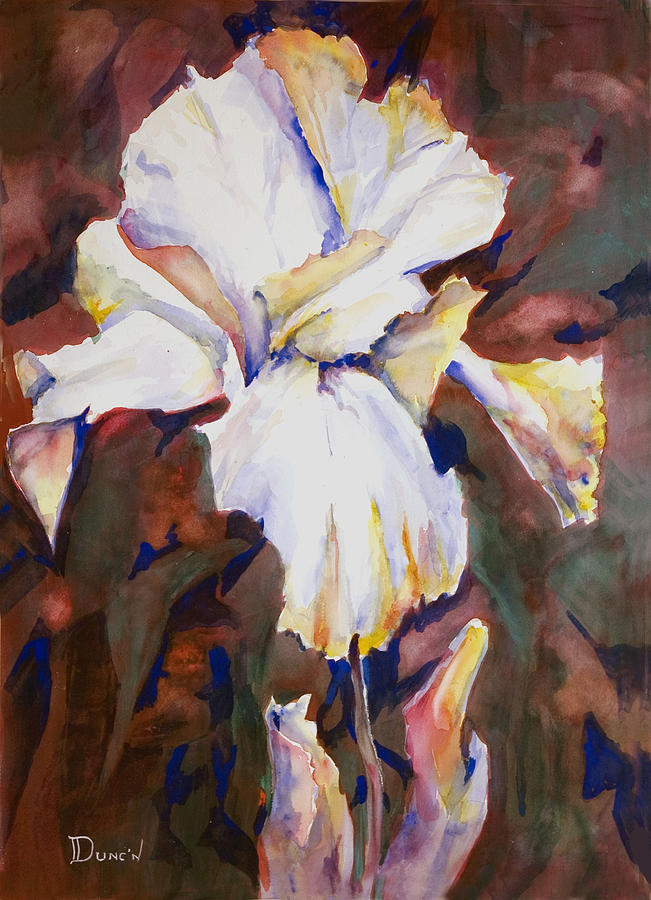 Iris Painting by Bob Duncan