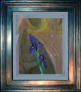 Artist Painting - Iris by Boro Ivetic