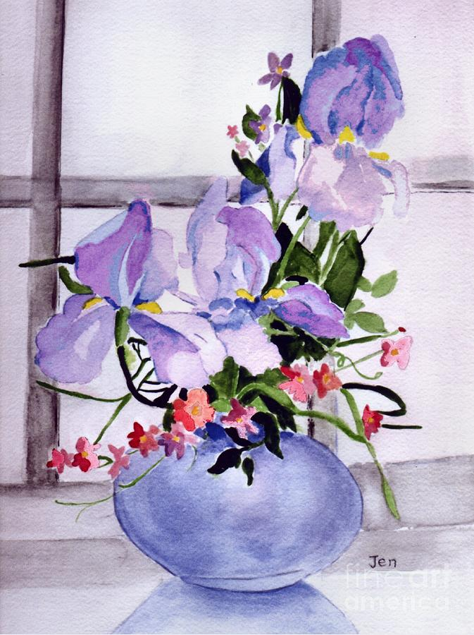 Iris Painting - Iris Bouquet by Ann Gordon
