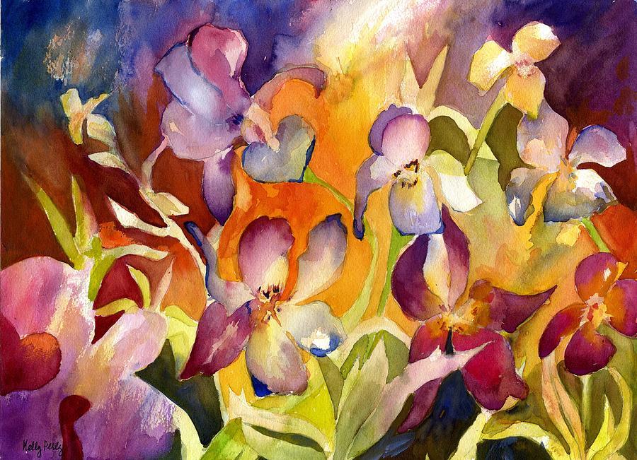 Iris Painting - Iris Dance by Kelly Perez