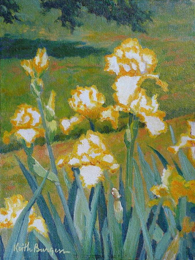 Impressionism Painting - Iris Etude by Keith Burgess