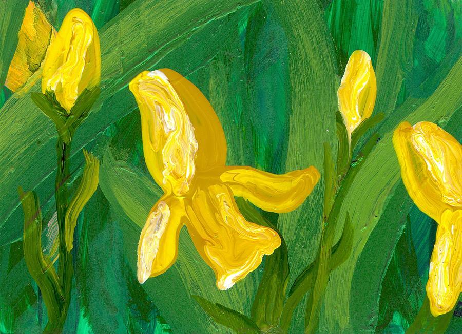 Iris Painting - Iris Flow by Wanda Pepin