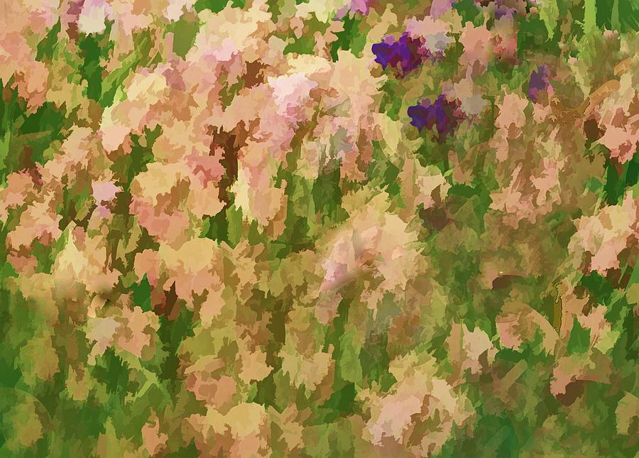 Iris Garden Abstract by Floyd Hopper