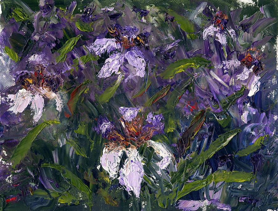 Landscape Painting - Iris Garden by Diane Martens