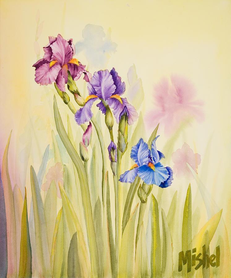 Flower Painting - Iris Garden Ll by Mishel Vanderten