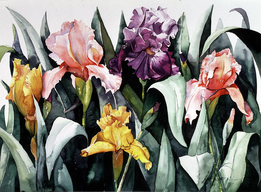 Iris Painting - Iris Integration by Leah Wiedemer