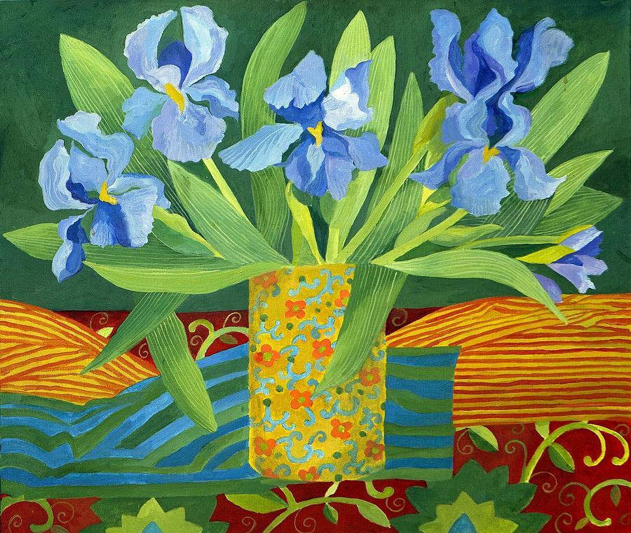 Iris Painting - Iris by Jennifer Abbot