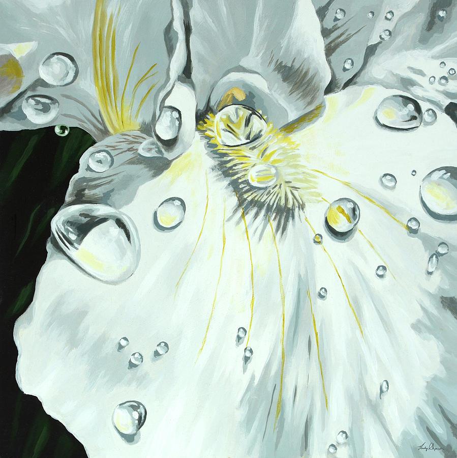 Flower Painting - Iris by Lesley Alexander