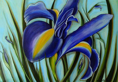 Iris Painting - Iris by Lina Scarfi