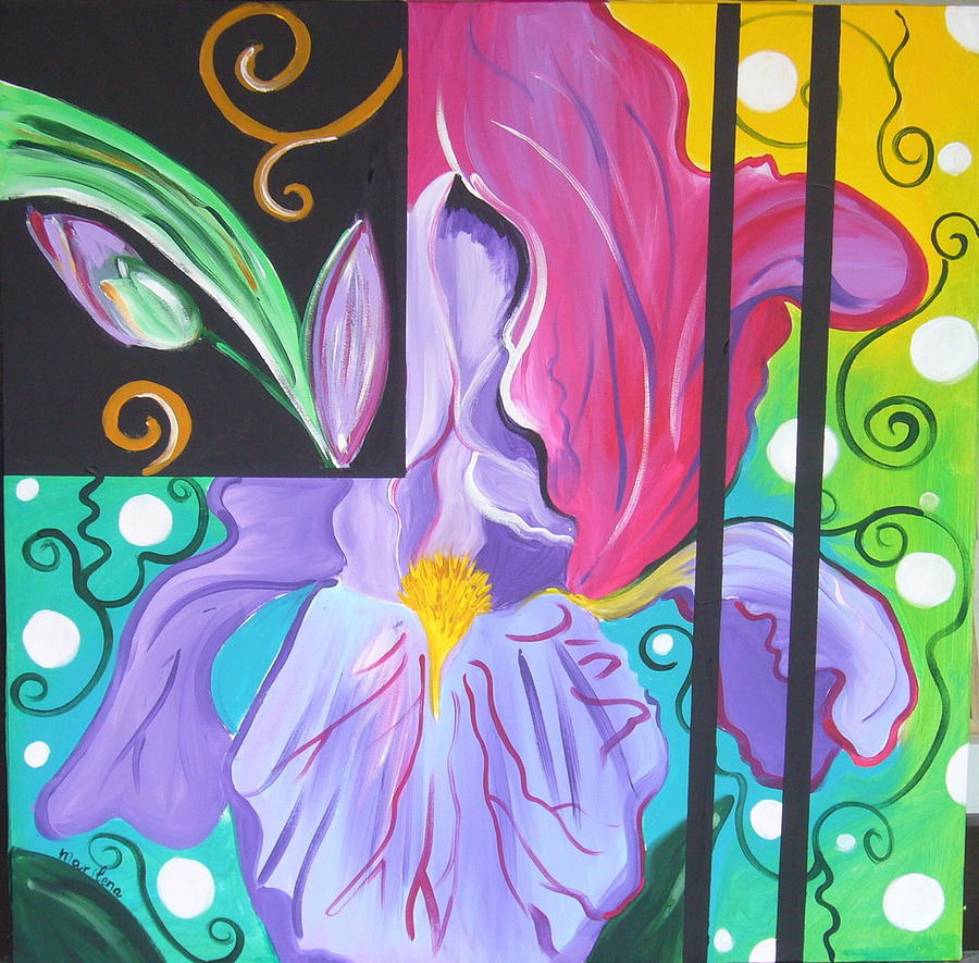 Flowers Painting - Iris by Marilena  Pilla