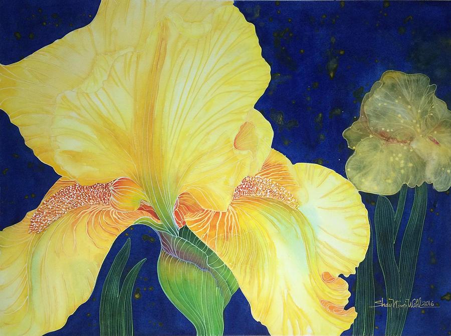 Bearded Iris Flower Painting - Iris Miami Beach by Shay Wahl