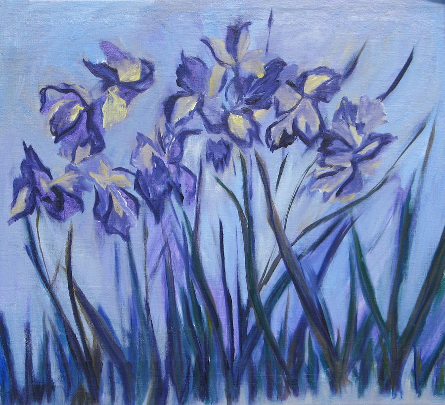 Iris Painting - Iris Painting Two by Betty Pieper