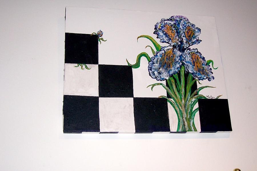 Iris Playing Checkers Painting