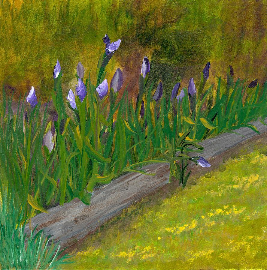 Iris Painting - Iris Procession by Wanda Pepin