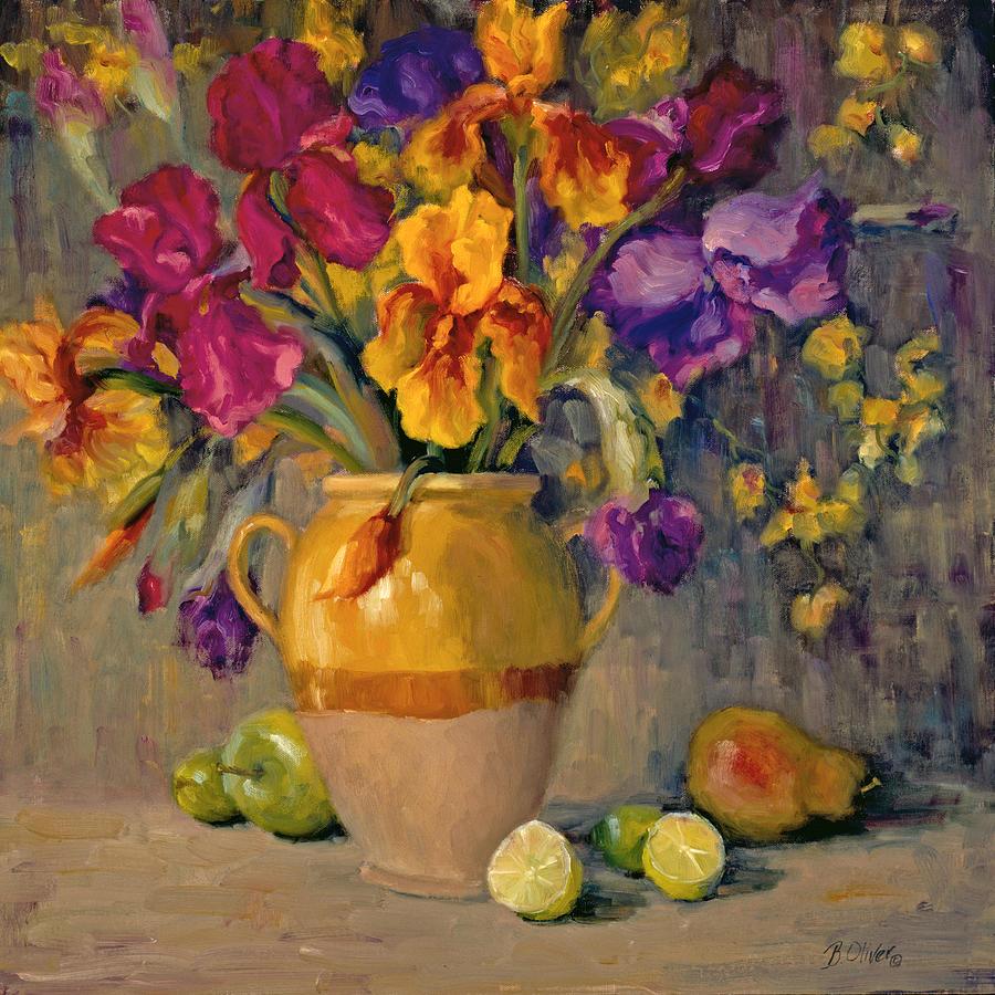 Still Life Painting - Iris Rhapsody by Bunny Oliver