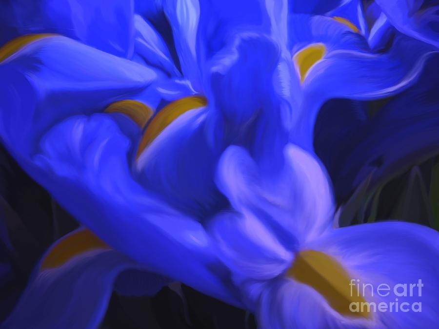 Iris Painting - Iris Sparkle by Roxy Riou