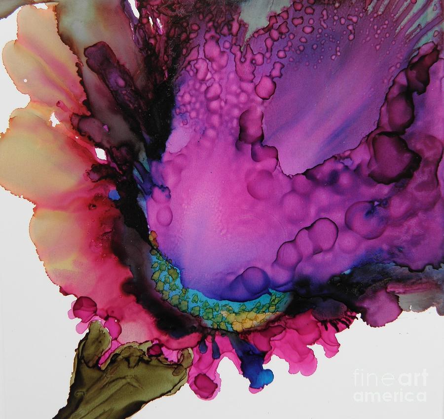 Iris Spray Painting - Iris Spray by Beth Kluth