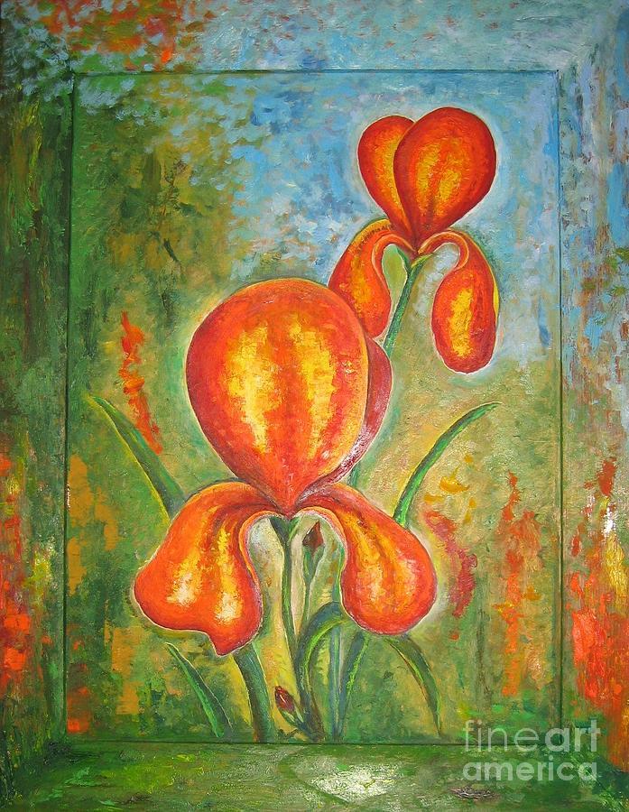 Iris Painting - Iris by Stella Velka