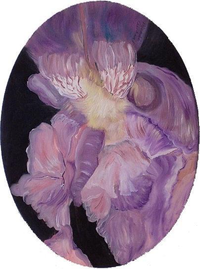 Flower Painting - Iris Study by Mikki Alhart