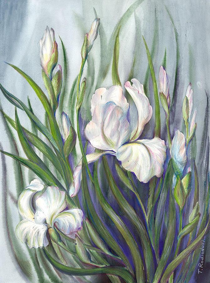 Still Life Painting - Iris by Tatiana Rodionova
