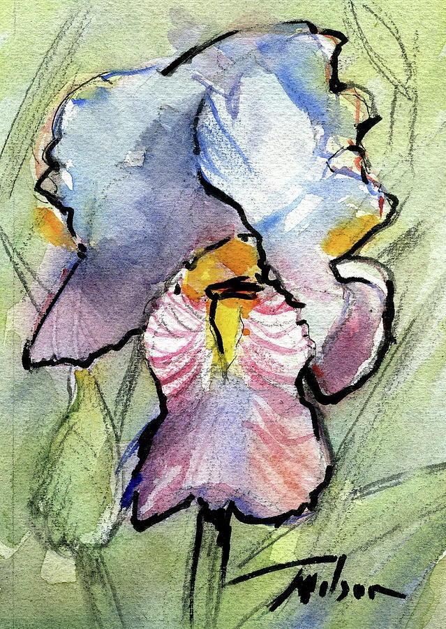 Iris Painting - Iris With Impact by Ron Wilson