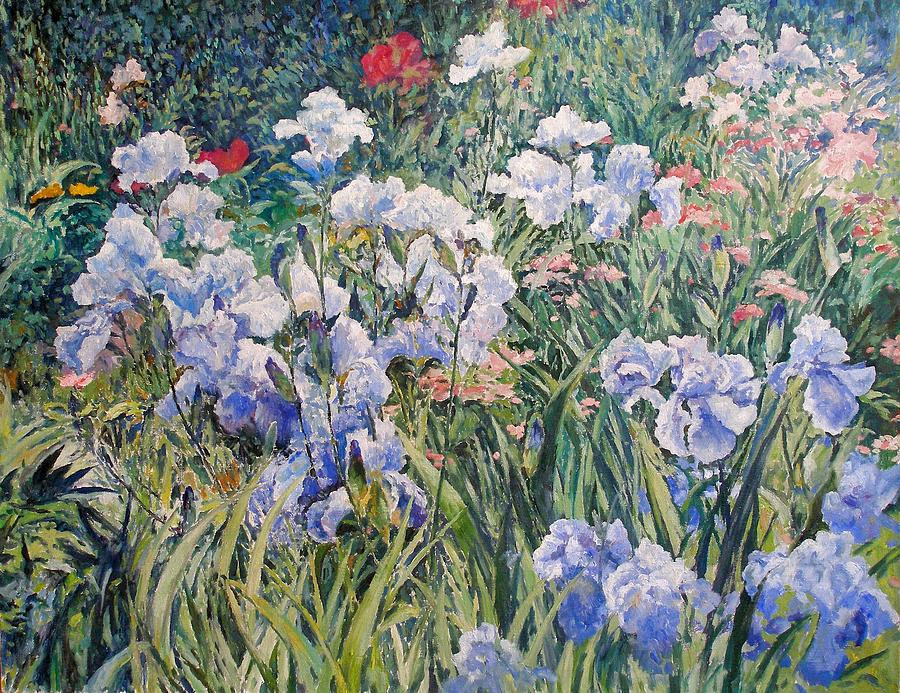 Flowers Painting - Irises by Andrey Soldatenko