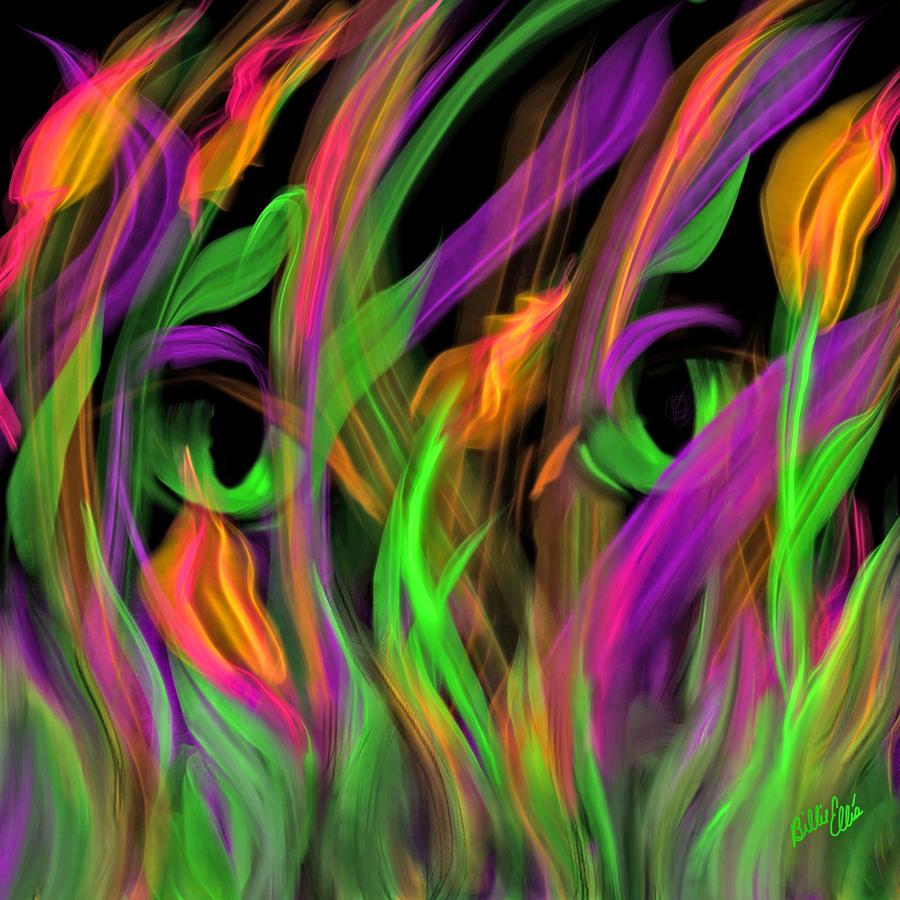 Iris Digital Art - Irises by Billie Jo Ellis