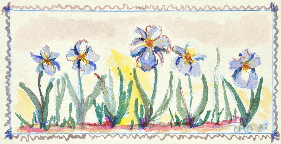 Blue Iris by Carol Oufnac Mahan