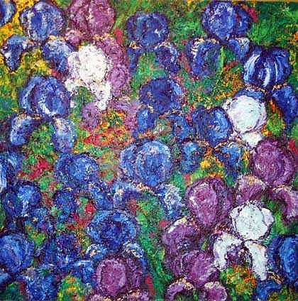 Irises Painting - Irises by Cynthia Fraula-hahn