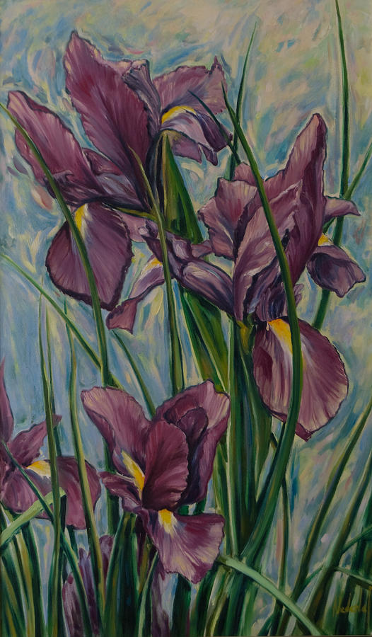Flowers Painting - Irises by Rick Nederlof