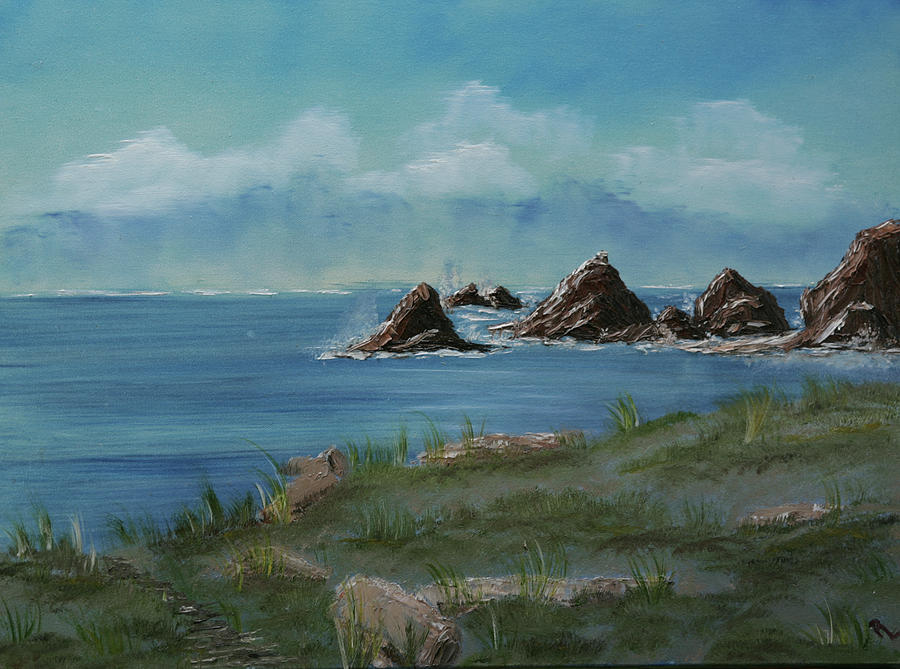 Seascape Painting - Irish Beach by Robin Lee
