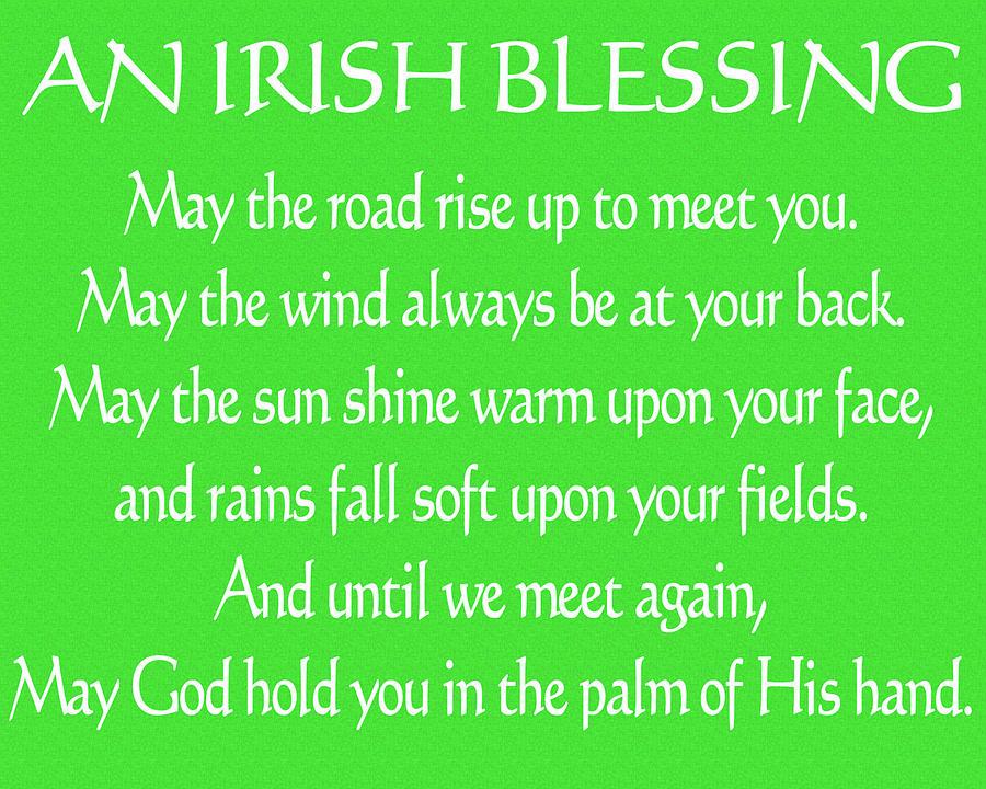 Irish Blessing Green Canvas Mixed Media