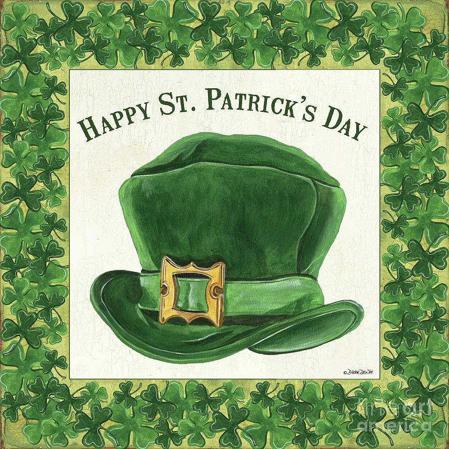 Irish Painting - Irish Cap by Debbie DeWitt