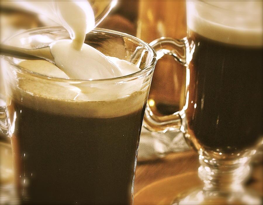 Irish Coffee Photograph - Irish Coffee by Caroline Reyes-Loughrey