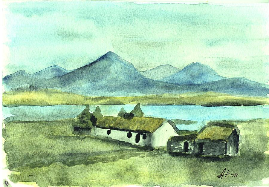 Irish Painting - Irish Cottage by Alan Hogan