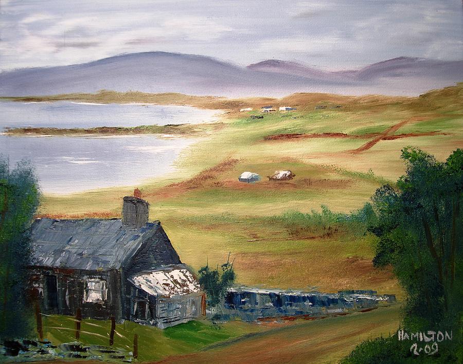 Irish Cottage Painting By Larry Hamilton