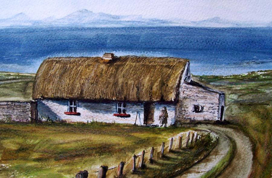 Irish Cottage Painting By Terence John Cleary