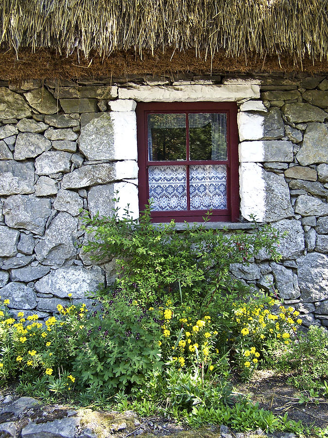 Irish Photograph - Irish Cottage Window County Clare Ireland by Teresa Mucha