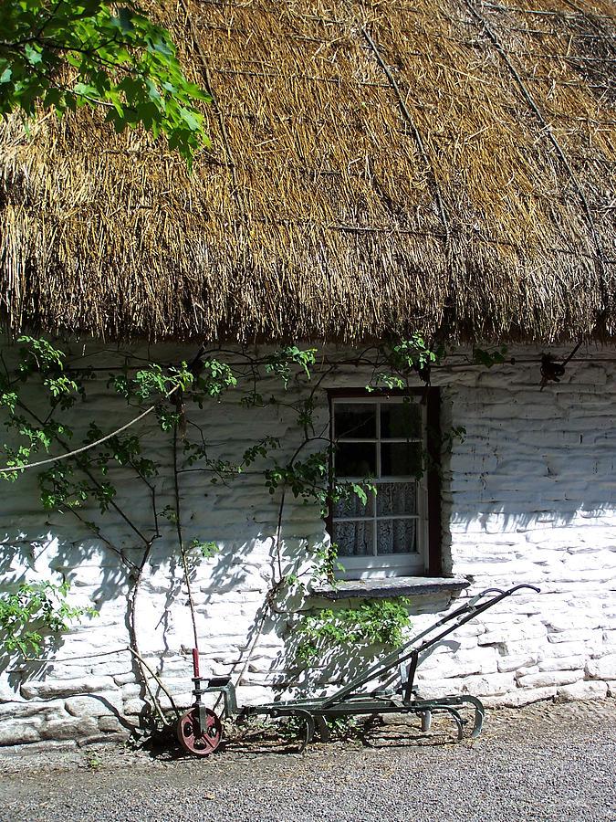 Irish Photograph - Irish Farm Cottage Window County Cork Ireland by Teresa Mucha