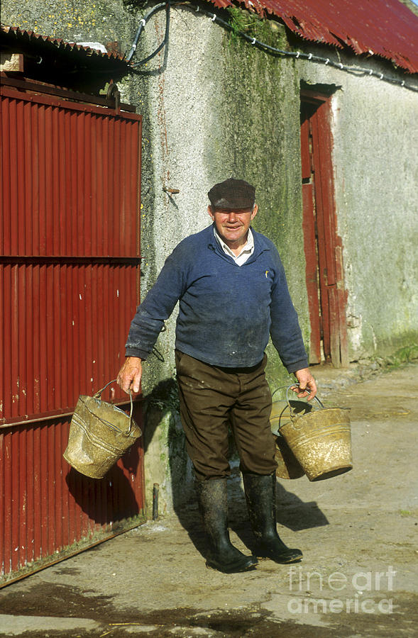 Farmer Photograph - Irish Farmer by John Greim