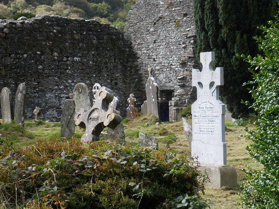 Graveyard Photograph - Irish Graves by Siobhan Yost
