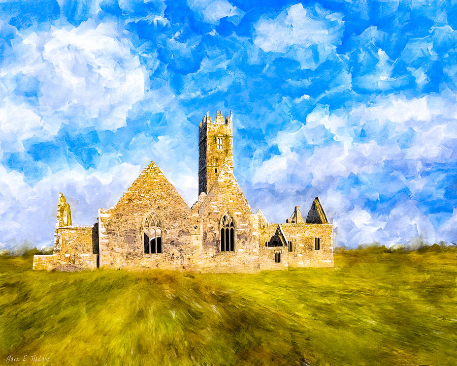 Galway Mixed Media - Irish Monastic Ruins Of Ross Errilly Friary by Mark E Tisdale