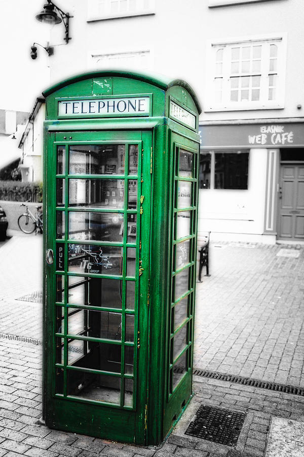 Europe Photograph - Irish Phone Booth In  Kinsale by George Oze