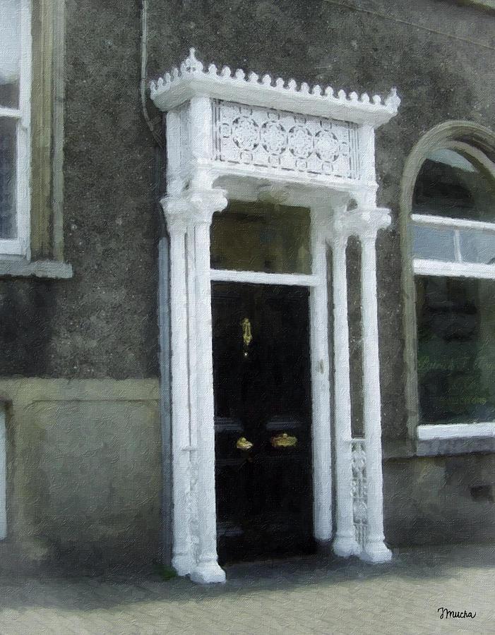 Irish Painting - Irish Solicitors Door by Teresa Mucha
