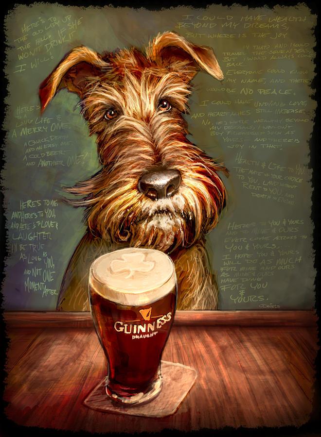 Irish Terrier Painting - Irish Toast by Sean ODaniels