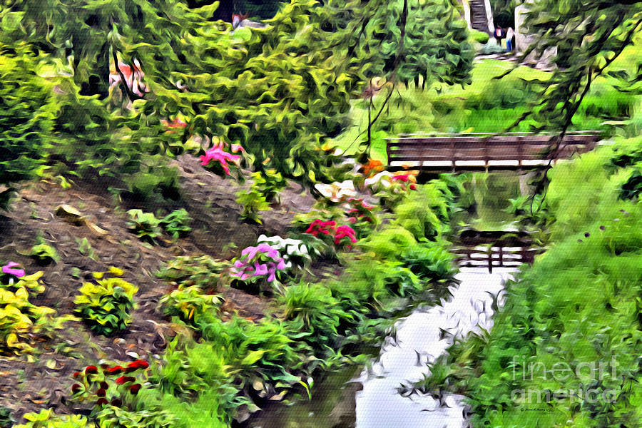 Wooden Bridge Photograph - Irish Summer Stream by Beauty For God