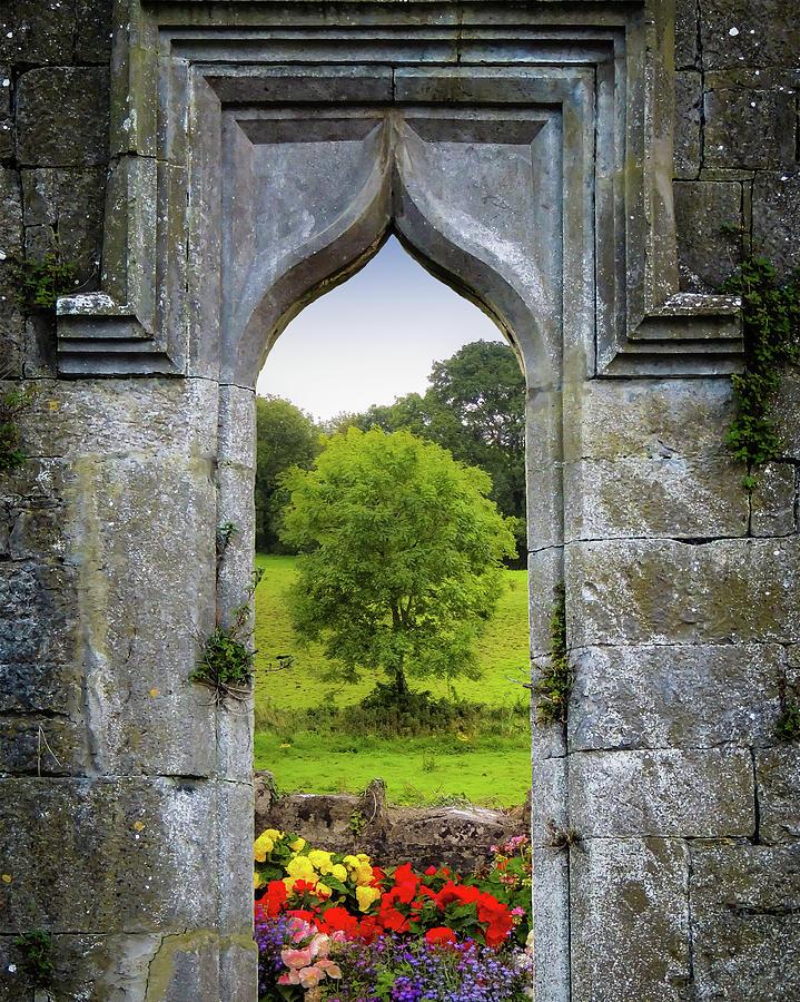 Ireland Photograph - Irish Summer Through Kildysart Church Ruins by James Truett