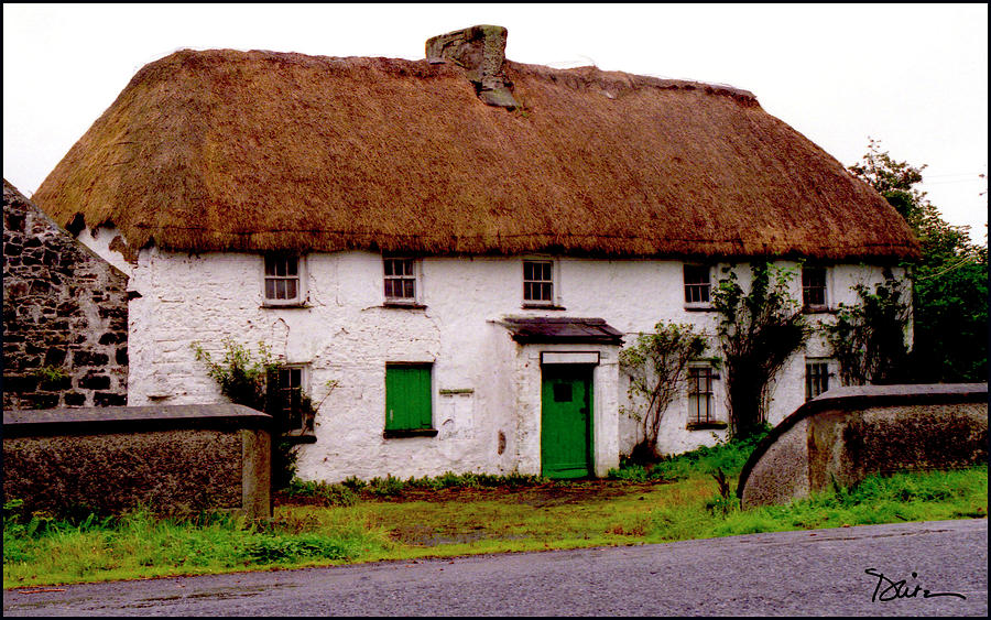 Captivating Thatched Roof Photograph   Irish Thatched Cottage By Peggy Dietz