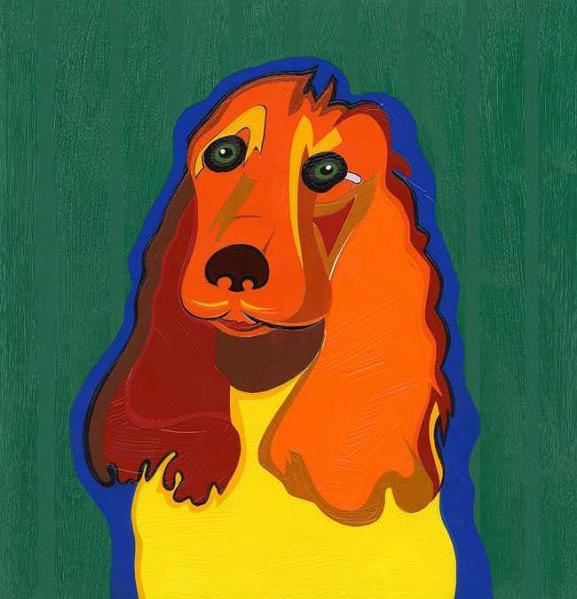Surrealism Painting - Irish The Red Setter by Ruby Persson