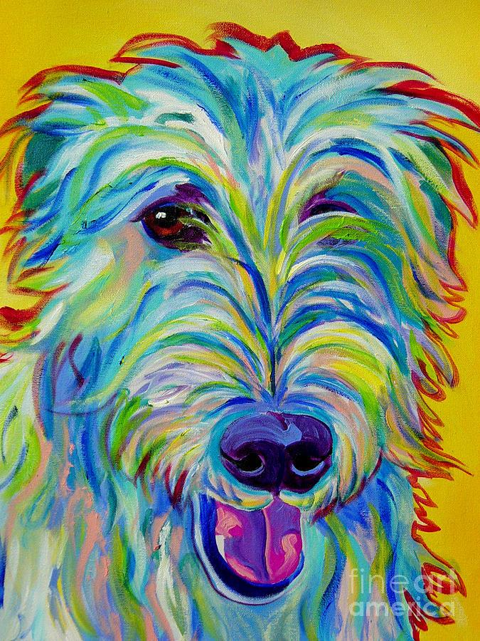Dog Painting - Irish Wolfhound - Angus by Alicia VanNoy Call